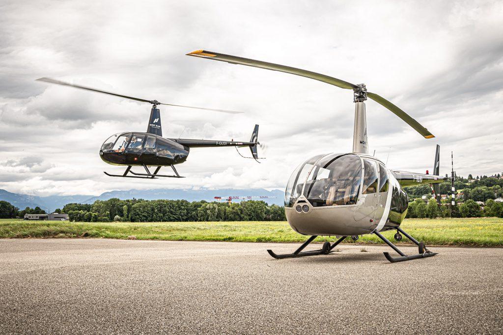 Hélicoptères - ROBINSON RH44 - Mont Blanc Hélicoptères Arcachon