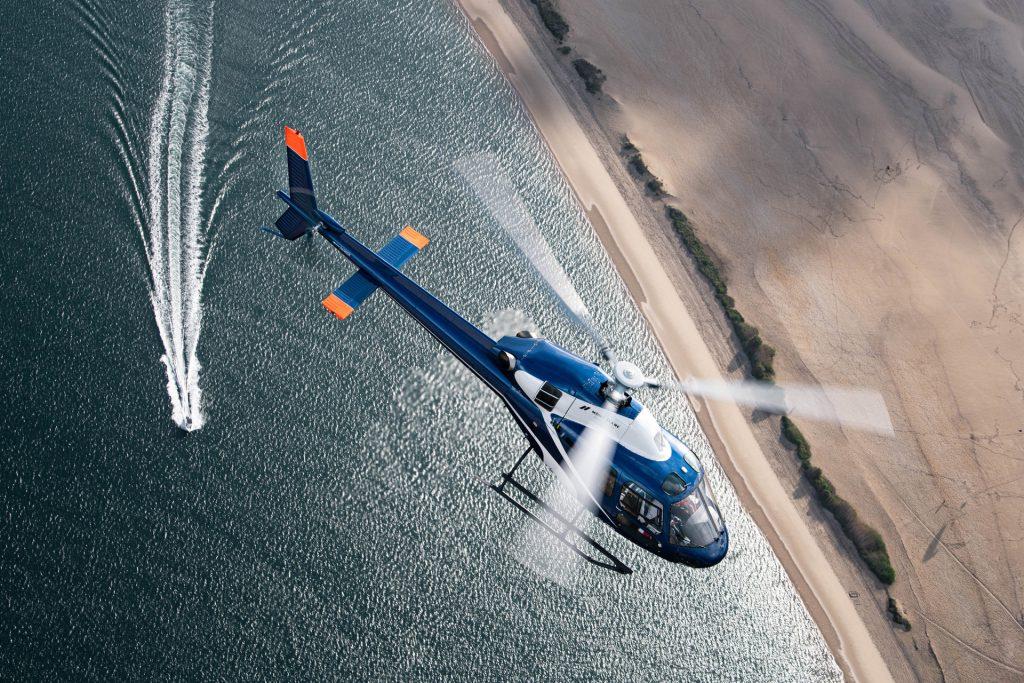 Tourist flights - Flight over the whole Bay - Mont Blanc Hélicoptères Arcachon