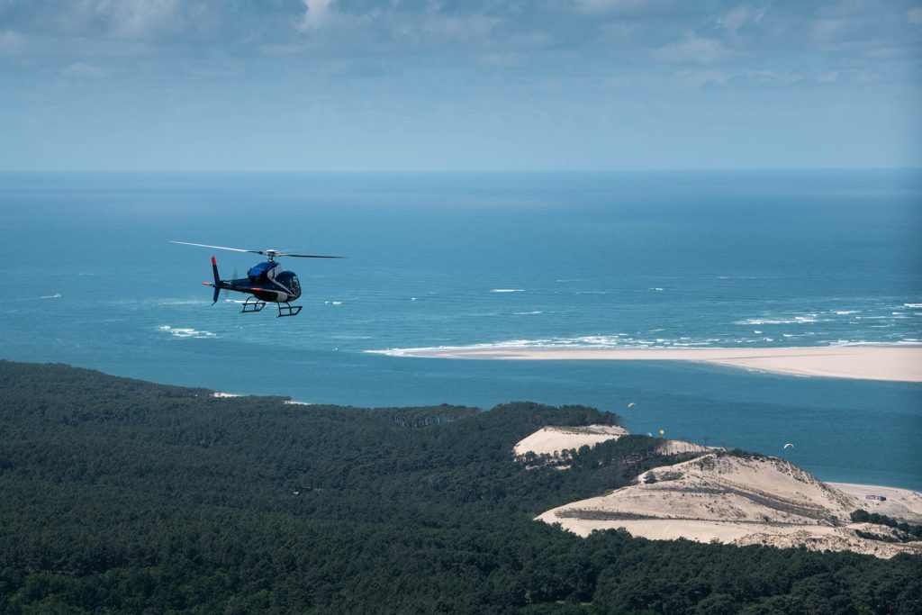Tourist flights - Flight over the Dune of Pilat - Mont Blanc Hélicoptères Arcachon